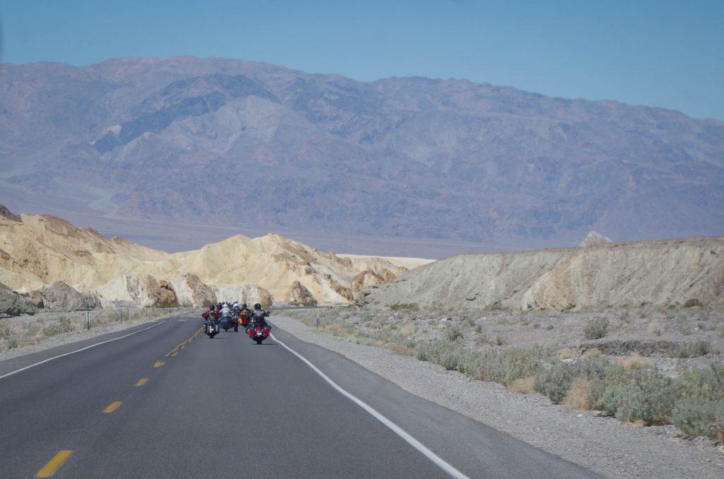 Driving through Death Valley