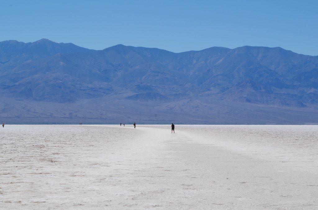 The salt flat of Badwater Basin.